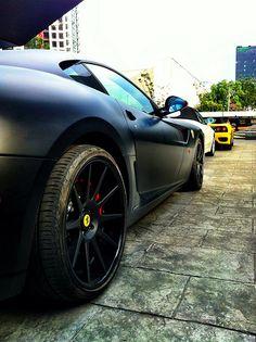 matte black ferrari 599 - Matte Black Ferrari 599