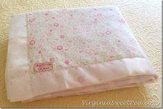 Gift Giving :: How To Make A Baby Blanket - Sweet Pea would make a sweet shower gift