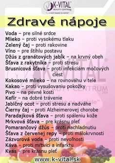 Nápoje a zdraví Healthy Juice Drinks, Healthy Juices, Beauty Detox, Health And Beauty, Dieta Detox, Healing Herbs, Natural Medicine, Natural Health, Smoothies