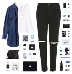 """""""UNWANTED"""" by c-hristinep ❤ liked on Polyvore featuring Topshop, H&M, Forever 21, Chicnova Fashion, Anya Hindmarch, OXO, Bob's Your Uncle, NARS Cosmetics, Maison Margiela and Christy"""
