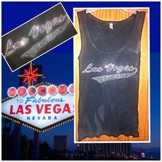 Bling  Las Vegas Black Tank This is a perfect Las Vegas bling bling tank top. It's a night life tank sexy and shiny! The photo made it look lighter black but it's a true dark black. Never worn and has a great bling Las Vegas Logo in diamonds of silver and pink! Very blingy! New bought it in Vegas 4 years ago and thought I could wear it it's a small and was the only size at store and I just wanted it so bad was gonna try to wear a small. Not gonna work lol! Was 15$ Tops Tank Tops