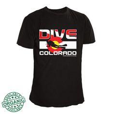 Colorado Flag Scuba Shirt | Colorado Dive T-Shirt | Colorado Shirts – Fearless State
