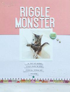 Riggle Monster by Christine Cieri at @studio_calico