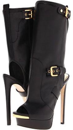 Dsquared2 Black open toe boots #UNIQUE_WOMENS_FASHION