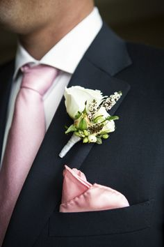 T.J. and Erin's 14 Guest Intimate City Hall Wedding. Catherine Hall Photography. See more.... @intimateweddings.com #boutonniere #groomstyle