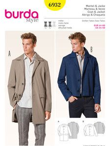 burda style: Schnitte Katalog - Jacken, Mäntel & Westen - Mantel – Jacke