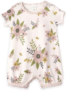 6e16f6c2a040 Look what I found on Blush   Ivory Floral Romper - Newborn   Infant
