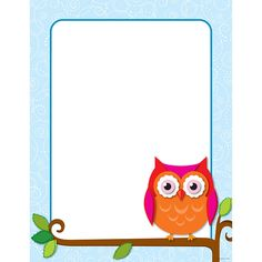 Create your own inspirational message or classroom display with this blank decorative chart complete with the popular and contemporary Colorful Owls design. This chart includes enough space to persona