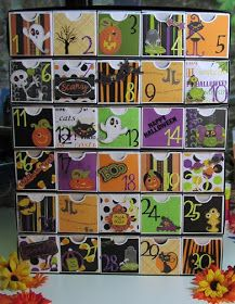 LADY J CREATIONS: Halloween Count-down Advent Calendar Directions