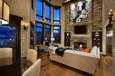 gas fireplace with tv above rustic | 17,540 tv above fireplace Living Room Design Photos