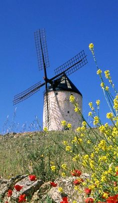 Moinho de vento na Espanha