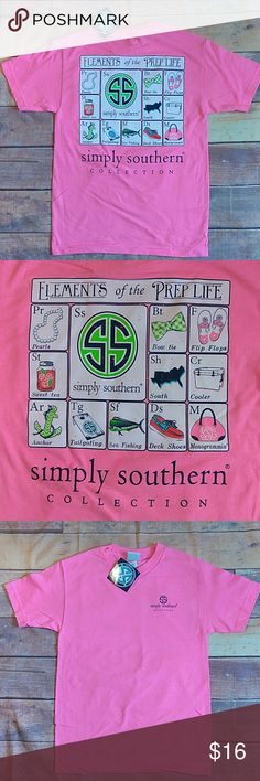NWT Simply Southern size Small Brand New with tags, will ship either day of or next day Simply Southern Tops Tees - Short Sleeve