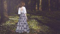 missena / Modrotlač - dlhá sukňa