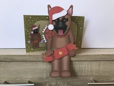 I printed the main design on to white card stock and the envelope on to white printer paper, cut and assembled using double sided tape and double sided foam pads. 3d Christmas, Christmas Decorations, Xmas, Christmas Crackers, Bank Holiday Weekend, Printer Paper, Shelf Design, Gift Vouchers, Card Kit
