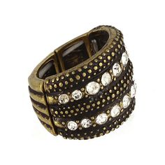 Burnished Gold Metal Stretch Ring