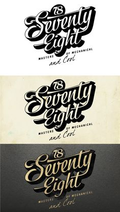 Logotype for Seventy-Eight Helmets & Motorcycle Stuff Brand ®ARM By Alex Ramon Mas Studio alexramonmas.com