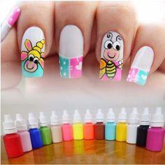Manicure Colors, Nail Wraps, Pedicure, Make Up, Nail Art, Nails, Beauty, Finger Nails, Disney Nail Designs