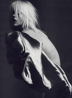 Sasha Pivovarova by Hedi Slimane for Vogue Paris April 2008