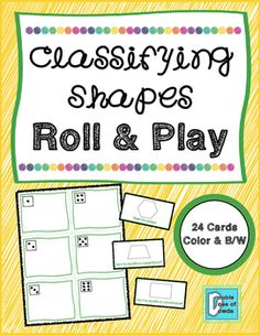 Classifying Shapes Roll & Play Math Centers on TpT 3.G.A.1