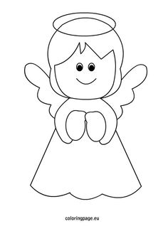 Christmas Angel Coloring Pages For Free