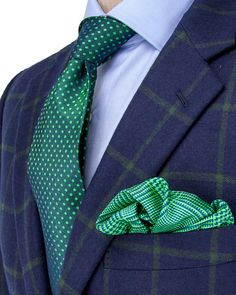 Belvest | Navy with Green Windowpane Sportcoat | Apparel | Men's