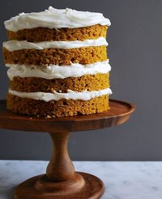 We're making this pumpkin spice cake (with cream cheese frosting!) ASAP