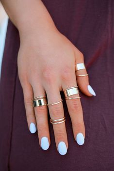 High Polish Gold Ring Set – UOIOnline.com: Women's Clothing Boutique