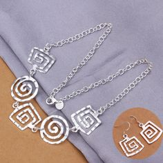 925 Sterling silver necklace earring set · MustHaveGift · Online Store Powered by Storenvy