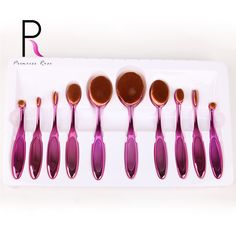 Princess Rose 10pcs Toothbrush Oval Makeup Brush Set Make Up Brushes Pincel Maquiagem Kit Pinceis Brochas Maquillaje Pinceaux