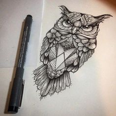 Ideas For Tattoo Frauen Eule Mini Tattoos, Body Art Tattoos, Sleeve Tattoos, Owl Tattoo Design, Small Tattoo Designs, Tattoos For Women Small, Small Tattoos, Owl Tattoo Drawings, Tattoo Owl