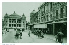 Despite being at the hub of the capital Trang Tien street in Hanoi has been able to keep many of its historic features Paul Bert, Remain The Same, Hanoi, Present Day, Looking Back, Opera House, Scenery, Street View, Explore