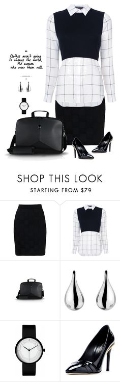 """To the Office"" by patricia-dimmick on Polyvore featuring Balmain, Alice + Olivia, Hot Diamonds, Oscar de la Renta and allblack"