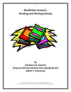 This FREE Common Core and Bloom's Taxonomy aligned activity can be used with any core nonfiction reading as well as for raising students' proficiencies in reading comprehension, higher level thinking skills, and writing skills. Go to The Best of Teacher Entrepreneurs for hundreds of free and priced lessons. #TpT #Nonfiction Analysis Lesson #FREE Language Arts Activity   http://www.thebestofteacherentrepreneurs.net/2014/02/free-language-arts-activity-nonfiction.html blog