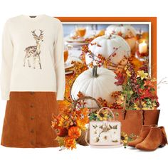 Thanksgiving TS by countrycousin on Polyvore featuring Dorothy Perkins, Sam Edelman, MICHAEL Michael Kors, Dolce&Gabbana and National Tree Company