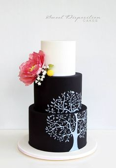Beautiful unique wedding cakes and celebration cakes in the Adelaide and Greater Adelaide area. Black Wedding Cakes, Unique Wedding Cakes, Wedding Cake Designs, Gorgeous Cakes, Amazing Cakes, Chalkboard Cake, Fresh Flower Cake, Painted Cakes, Cake Trends