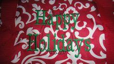 Penguin icon black Kelly green Happy Holidays!