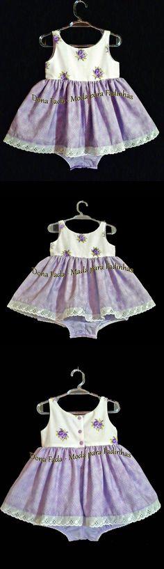 Vestido-macaquinho  - 18 meses  ______________baby - infant - toddler - kids - clothes for girls - - - https://www.facebook.com/dona.fada.moda.para.fadinhas/