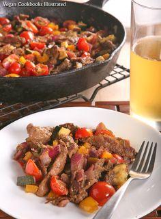 Vegan Jerk Seitan and Vegetable Skillet from the cookbook Quick-Fix Vegan