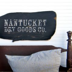 Nantucket Wooden Whale Sign Nautical Vintage Inspired Trade Sign Nantucket Whale Sign