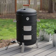 Meco Deluxe 2-in-1 Electric Water Smoker/Grill 351