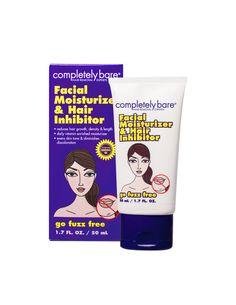 go fuzz free - NEW! <br> Facial Moisturizer & Hair Inhibitor