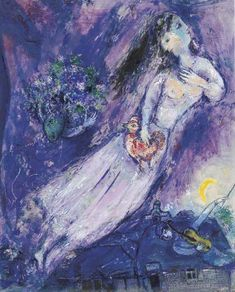 Le Filigrane Violet by Marc Chagall. (Russia) Very bold use of such a strong color. Quite nice.