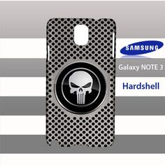 Punisher Aluminum Silver Hole Metal Samsung Galaxy Note 3 Case Cover