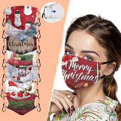 Buy Christmas Cotton Facemask Pm2.5 Activated Carbon at equashop.com! Free shipping Worldwide. 45 days money back guarantee.