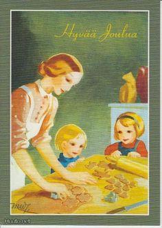Christmas Past, Christmas Cards, Vintage Baking, Illustration Art, Vintage Illustrations, Vintage Cookbooks, Christian Art, Postage Stamps, Martini