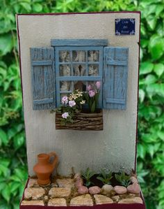 Easy Stand Alone Fairy Doors Fairy Crafts, Garden Crafts, Miniature Crafts, Miniature Fairy Gardens, Boot Dekor, Craft Stick Crafts, Diy And Crafts, Fairy Tree, Fairy Furniture