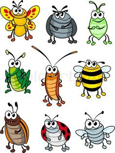 Set of doodle cartoon insects. Vector illustration Set of doodle cartoon insects. Doodle Cartoon, Cartoon Faces, Cartoon Drawings, Animal Drawings, Bug Cartoon, Art Drawings For Kids, Drawing For Kids, Easy Drawings, Art For Kids