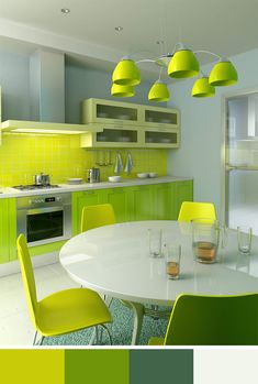 Modern Kitchen Green 20 modern kitchens decorated in yellow and green colors | green