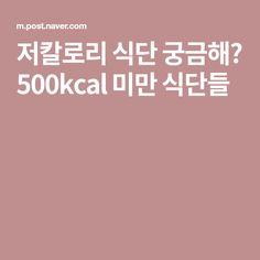 저칼로리 식단 궁금해? 500kcal 미만 식단들