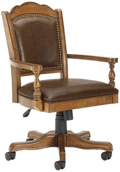 Luxury Wooden Desk Chair On Wheels